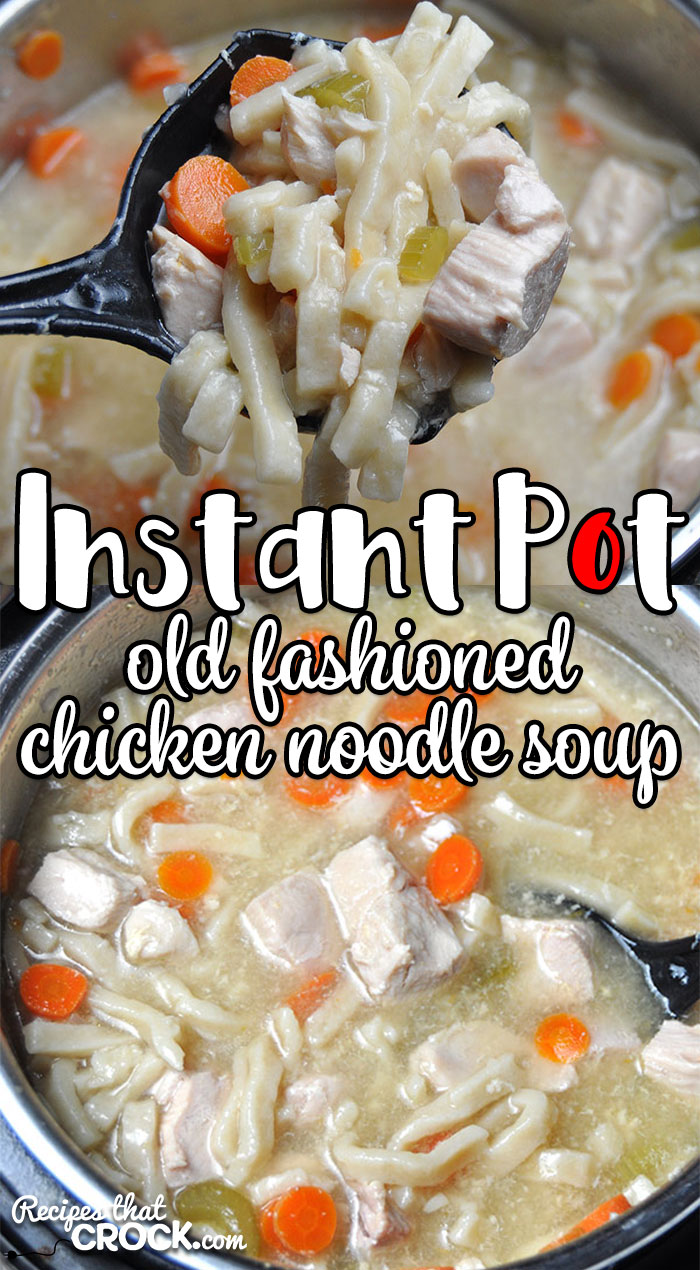 This Electric Pressure Cooker Old Fashioned Chicken Noodle Soup recipe takes an all-day recipe and turns it into a quick and easy recipe! You'll love it! Great Instant Pot or Ninja Foodi Recipe! via @recipescrock