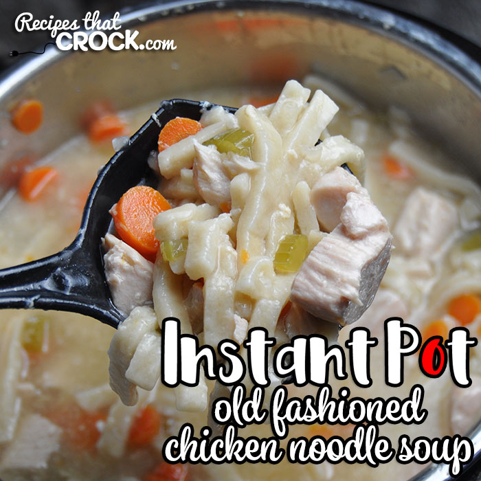 This Electric Pressure Cooker Old Fashioned Chicken Noodle Soup recipe takes an all-day recipe and turns it into a quick and easy recipe! You'll love it!