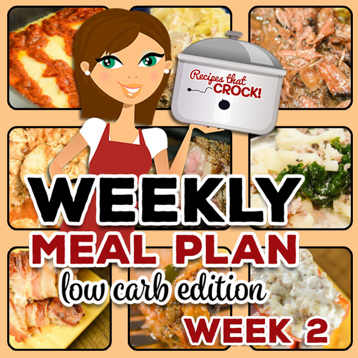 Are you looking for good low carb crock pot recipes? This week's Low Carb Crock Pot Menu includes Crock Pot Unstuffed Cabbage Casserole, Crock Pot Country Ribs - Bacon Ranch, Low Carb Crock Pot Zuppa Toscana Soup, Low Carb Lasagna Casserole and more!