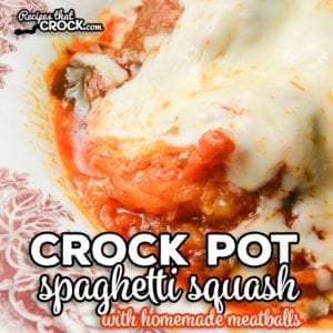 We love using our slow cooker to make Crock Pot Spaghetti Squash and Meatballs all in one pot! Our low carb homemade meatballs make this dish a go-to low carb crock pot meal for our family.