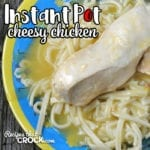 If you are in need of a quick and easy meal that is delicious, then you don't want to miss this Instant Pot Cheesy Chicken recipe. It is so good!