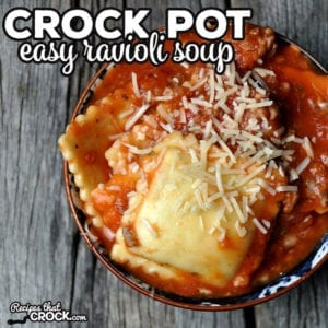 This Easy Crock Pot Ravioli Soup is not only super easy, it is also super flavorful! My family devoured it the first night and the leftovers!