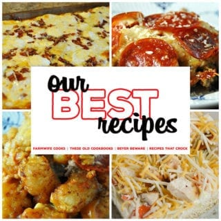 This collection of 8 Great Pizza Recipes includes Crock Pot Crustless Pizza, Pizza Burgers, Pepperoni Pizza Pasta Casserole and Crock Pot Pizza Tater Tot Casserole.