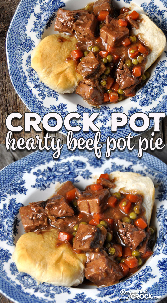 If you are looking for a super easy, hearty and delicious meal, then I have the recipe for you! This Hearty Crock Pot Beef Pot Pie is just that! Yum!