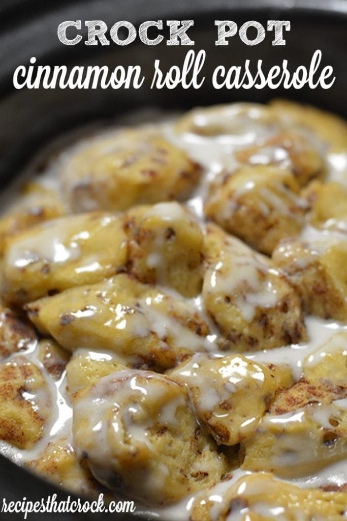 Are you looking for a crock pot recipe for the cinnamon roll lovers in your family? Our Crock Pot Cinnamon Roll Casserole recipe is a simple breakfast treat!