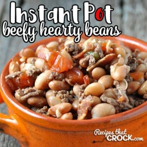 Are you looking for a delicious recipe that will fill you up and is simple? Then I have the recipe for you! This Instant Pot Beefy Hearty Beans recipe is exactly that!