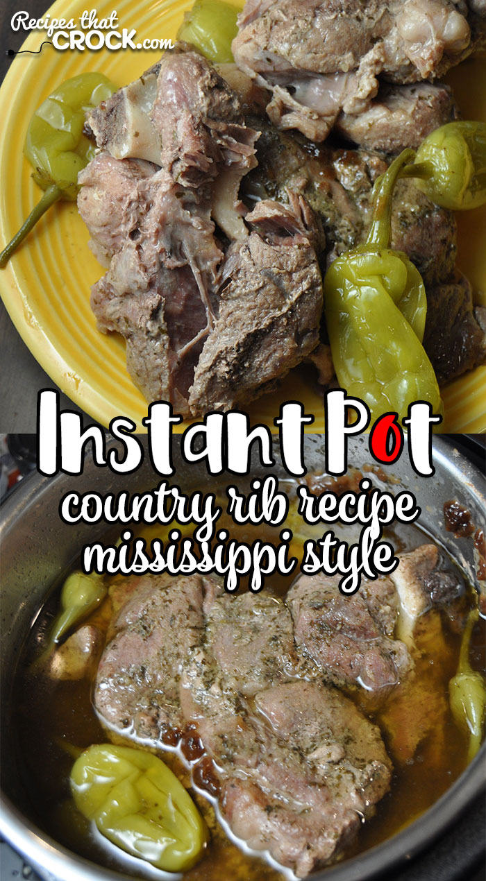 Are you looking for the amazing flavor and tender juiciness of our Crock Pot Mississippi Country Ribs, only a little faster? Then don't miss this Instant Pot Country Ribs {Mississippi Style} recipe!
