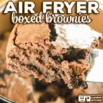Are you wondering how to make box brownies in an air fryer? Let us show you how to make a boxed brownie mix in a traditional air fryer or ninja foodi using the air crisp feature.