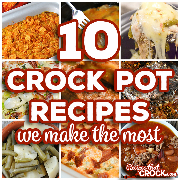 Are you looking for tried and true crock pot recipes that won't fail you in the kitchen? We literally try hundreds of new slow cooker recipes every year and THESE are the 10 crock pot recipes we make the most for our families.