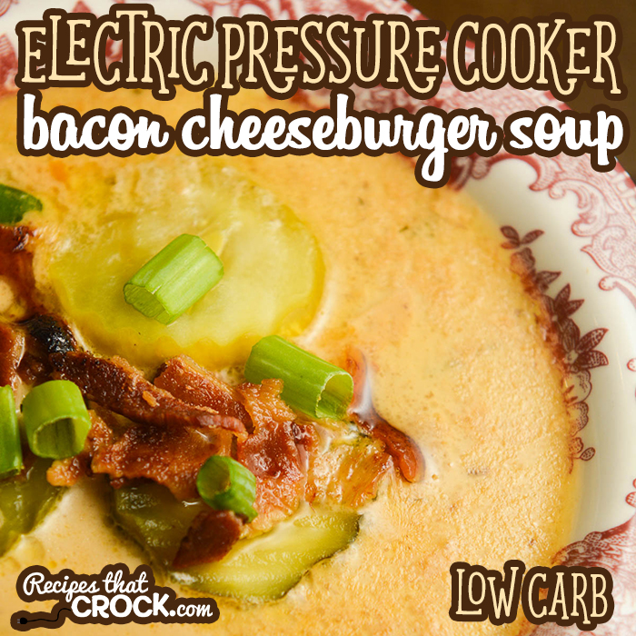 Our Electric Pressure Cooker Bacon Cheeseburger Soup (Low Carb) is one of our favorite soups to make in our Instant Pot and Ninja Foodi. The flavor of this soup is absolutely fantastic!
