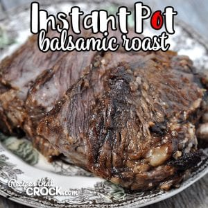 If you are in the mood for a delicious roast that is easy to make and flavorful, then this Instant Pot Balsamic Roast is for you! Even better, it is a quick recipe too!