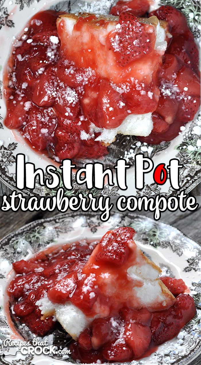 This Instant Pot Strawberry Compote recipe gives you a quick way to make a delicious topping for everything from pancakes to waffles to cake to ice cream and more!