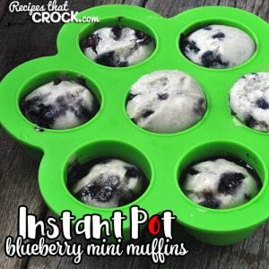 If you are looking for a super easy breakfast recipe you can make ahead of time or in the morning, then you don't want to miss these yummy Instant Pot Blueberry Mini Muffins!