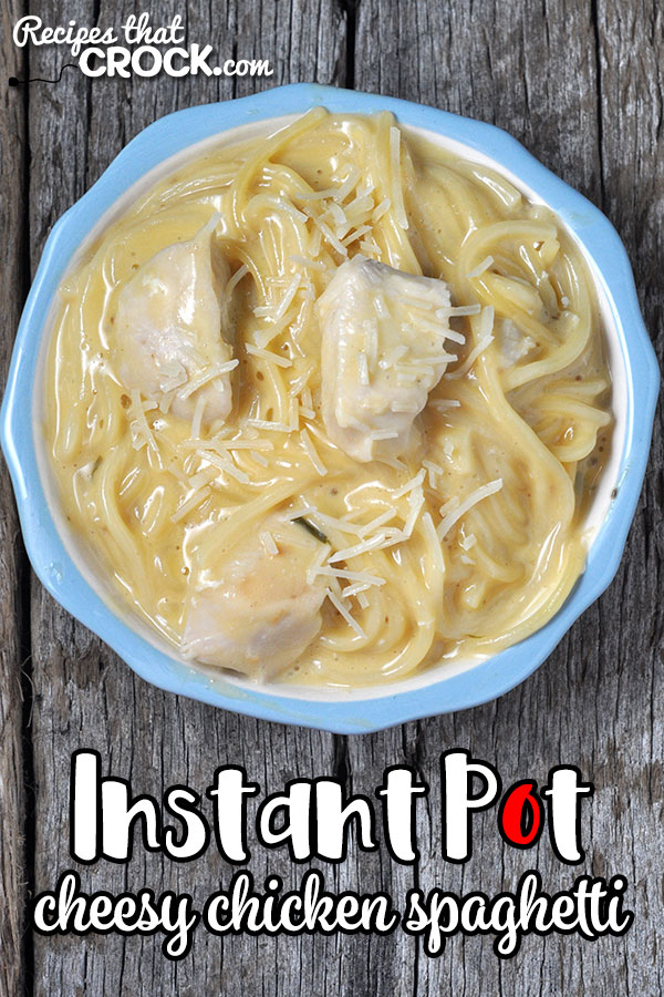 Need a great week night dinner idea that everyone is sure to love? Check out this Instant Pot Cheesy Chicken Spaghetti! Easy and delicious!