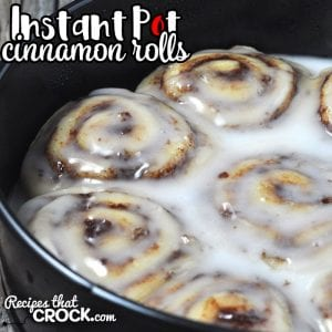 If your oven is broke, traveling or just like making things in your electric pressure cooker, then you are going to love these easy Instant Pot Cinnamon Rolls!