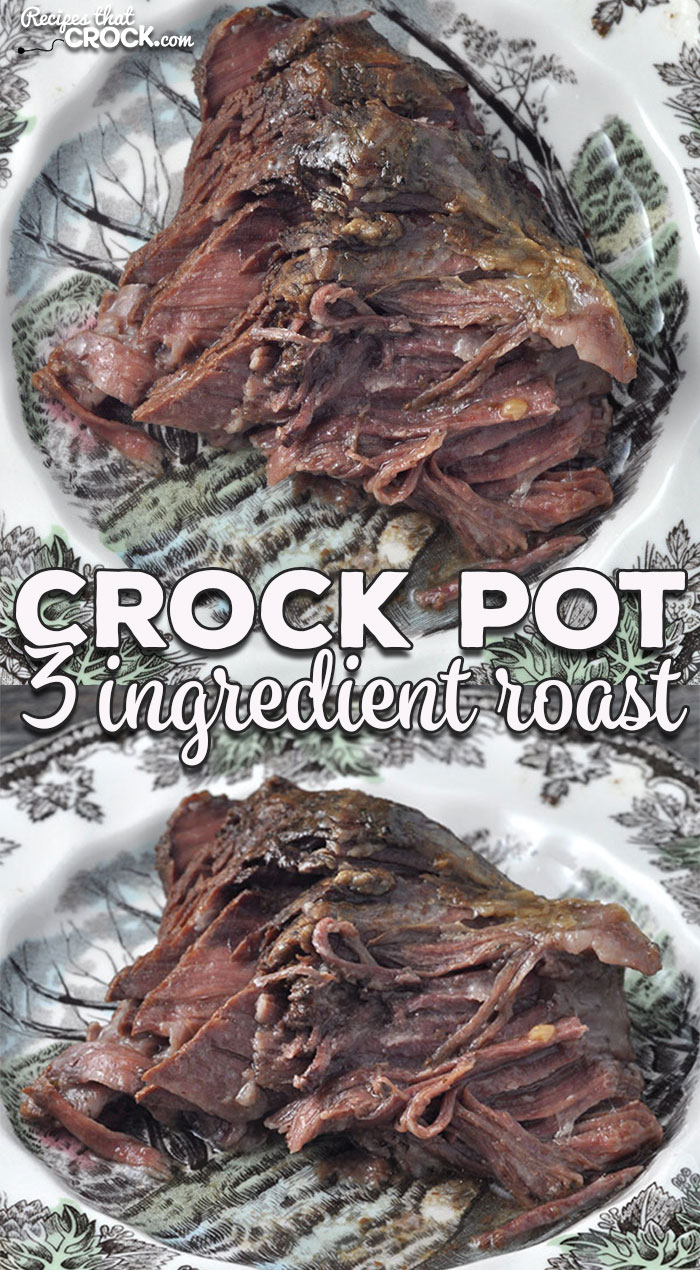 Momma is at it again with an amazing recipe that is simple and flavorful! This 3 Ingredient Crock Pot Roast can be thrown together in a few moments and is so tender and divine!