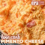 Our Low Carb Pimento Cheese Recipe is a great dip, topping or ingredient for other recipes. This homemade version of this flavorful cheese helps you keep your carb count down.