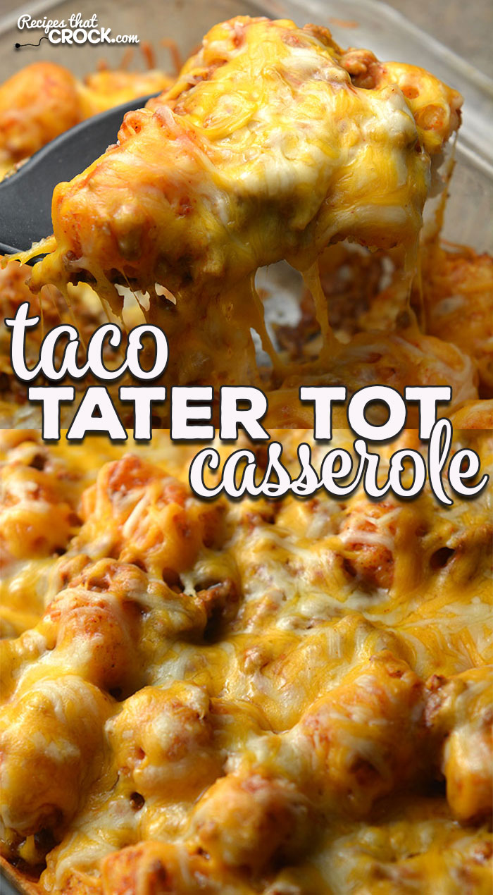 This Taco Tater Tot Casserole recipe for you oven is incredibly simple and absolutely delicious! Everyone will love it and want the recipe!