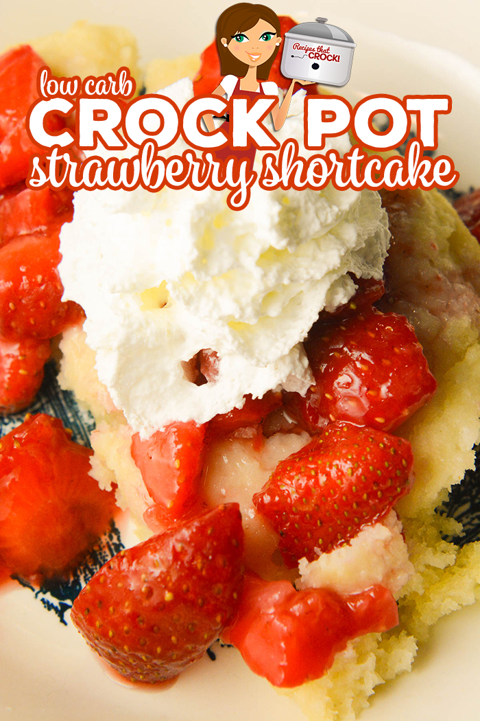 Are you looking for an easy low carb dessert? Our Crock Pot Low Carb Strawberry Shortcake makes a tender sweet cake topped with juicy strawberries and sugar-free whipped cream. This is one of our favorite Carbquick recipes!