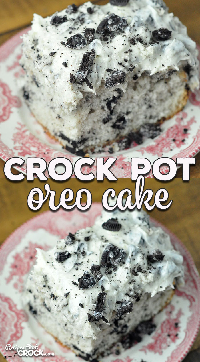 This Crock Pot Oreo Cake is rich, decadent and surprisingly easy to make! It is the perfect cake to make to treat you and yours or to bring to a potluck!