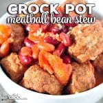 Looking for an easy recipe? This Easy Crock Pot Meatball Bean Stew recipe is incredibly simple, delicious and filling! Everyone will love it!