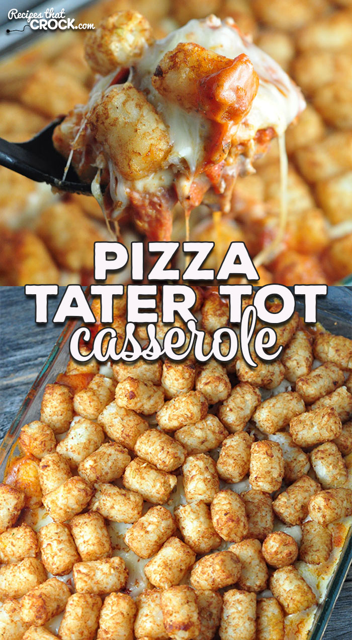This Pizza Tater Tot Casserole is a crowd pleaser that is super easy to make and absolutely delicious! Perfect for a busy weeknight dinner!