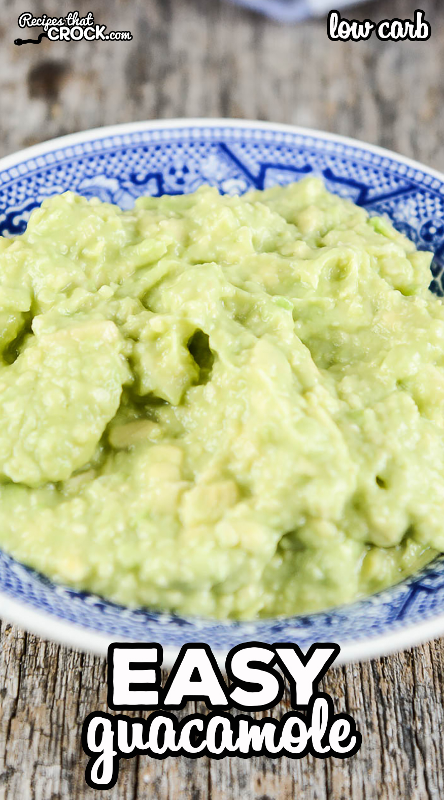 Are you looking for a simple way to make guacamole? This easy guacamole recipe is my go-to low carb recipe any time I am craving guac! It is so delicious and scale-able to feed a crowd if needed. via @recipescrock