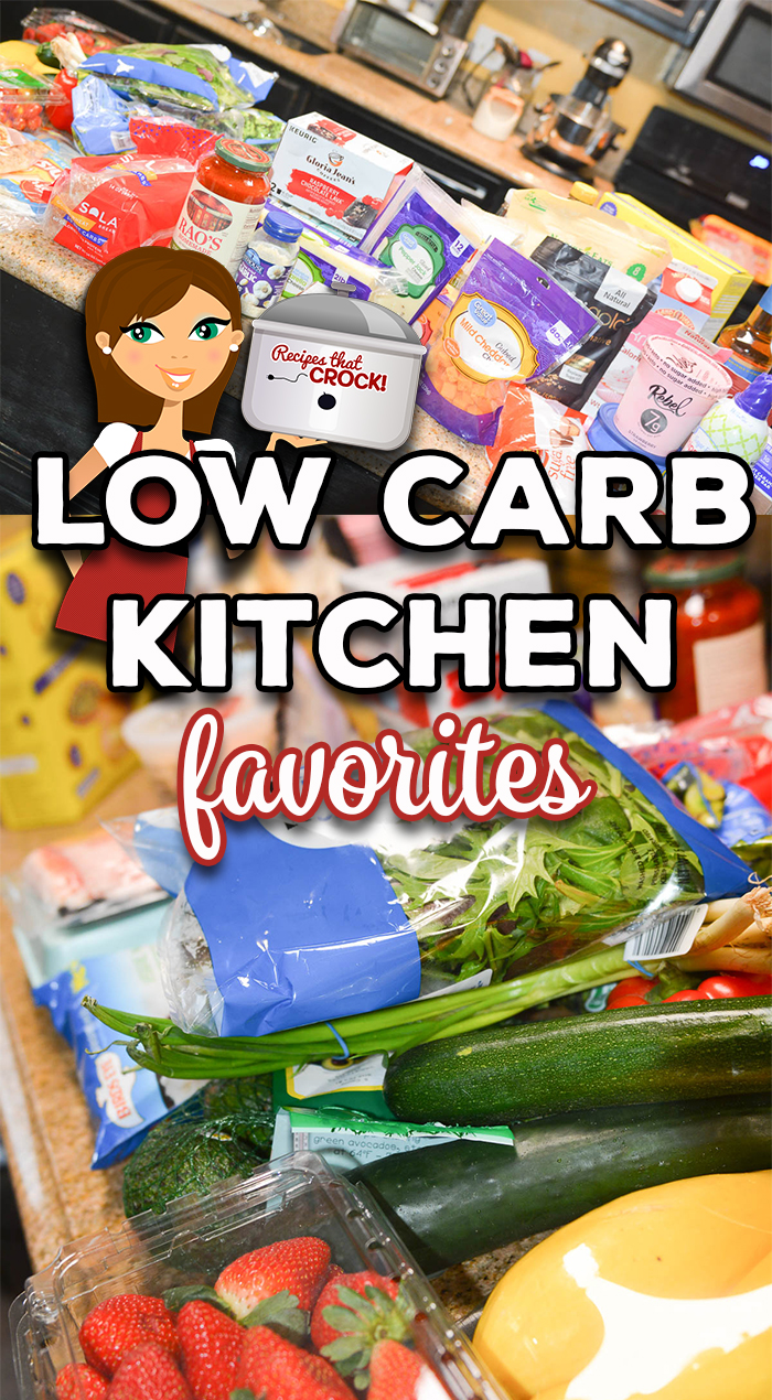 Are you looking for low carb foods to stock your pantry and refrigerator? Here are our Low Carb Kitchen Favorites from meats and vegetables to low carb baking essentials and our go-to must have products and where to get them. via @recipescrock