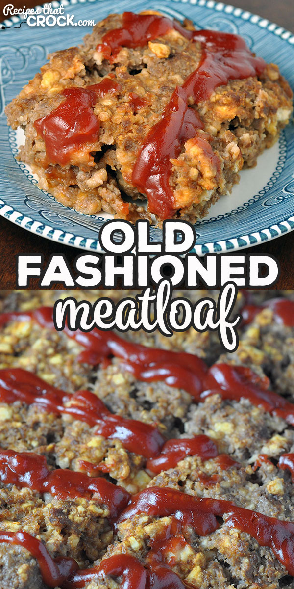 If you're looking for a delicious meatloaf recipe that'll have you dreaming of your mom or grandma's meatloaf, you have to try this Old Fashioned Meatloaf! via @recipescrock