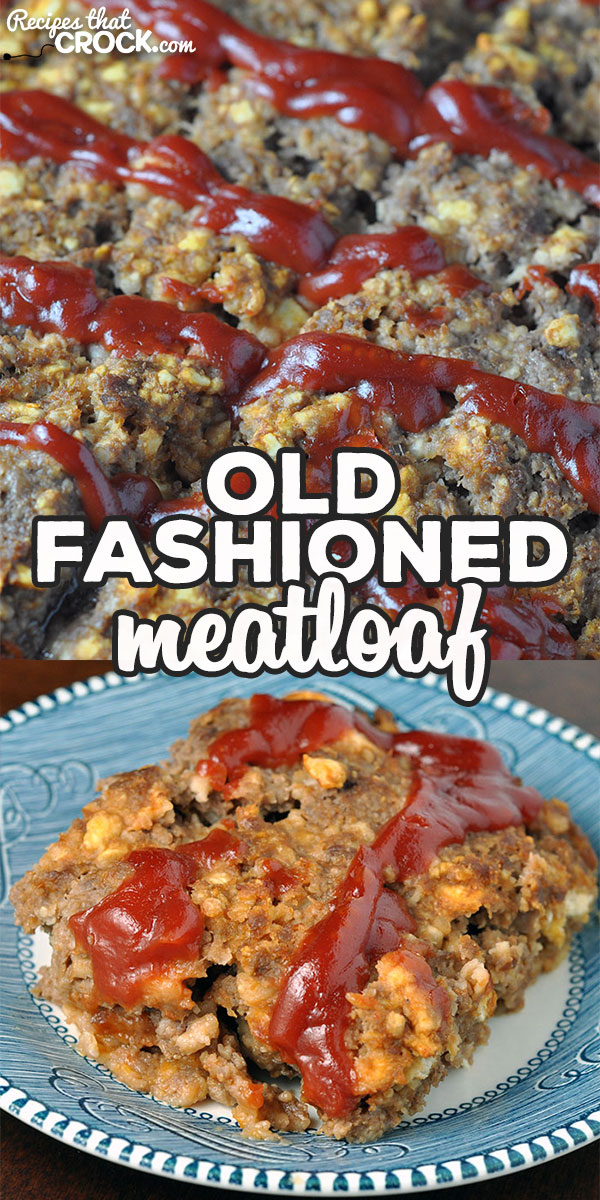 If you're looking for a delicious meatloaf recipe that'll have you dreaming of your mom or grandma's meatloaf, you have to try this Old Fashioned Meatloaf!