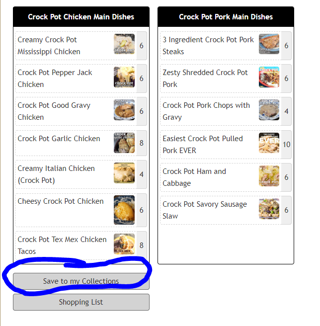 How to Save Recipe Collections