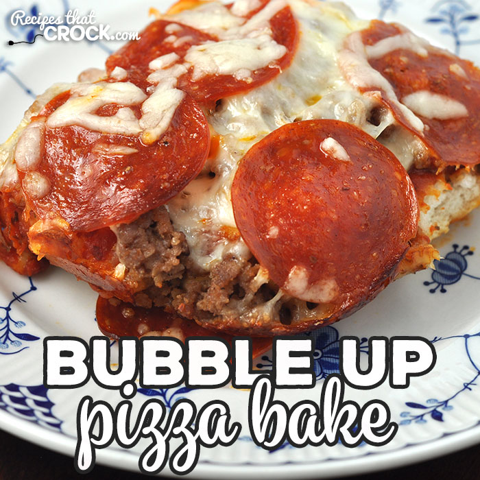 This Bubble Up Pizza Bake is the oven version of our Crock Pot Pizza Bake. It is a delicious and easy way to have homemade pizza on chaotic night!