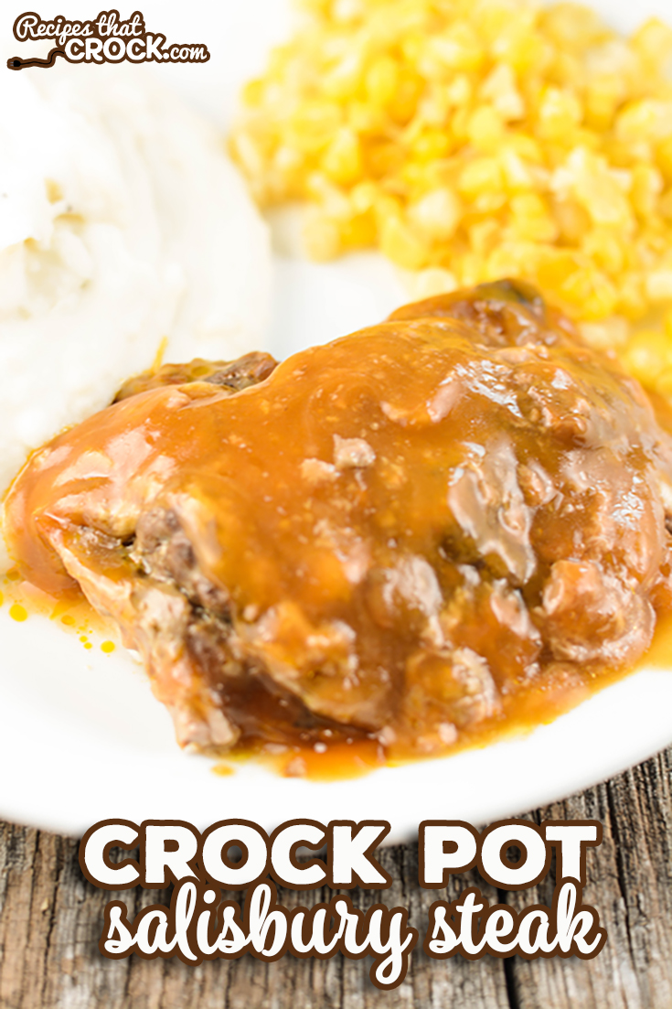 Crock Pot Salisbury Steak is homemade comfort food at its best. You won't believe how EASY this recipe is! via @recipescrock