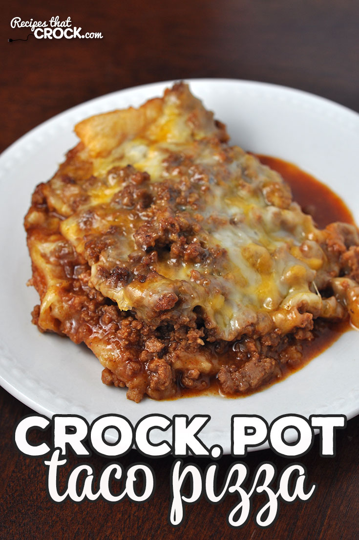 This Crock Pot Taco Pizza is so easy and such a treat! It cooks up quickly, so you can enjoy it even on a weeknight! I am positive you WILL enjoy it! Yum!   via @recipescrock