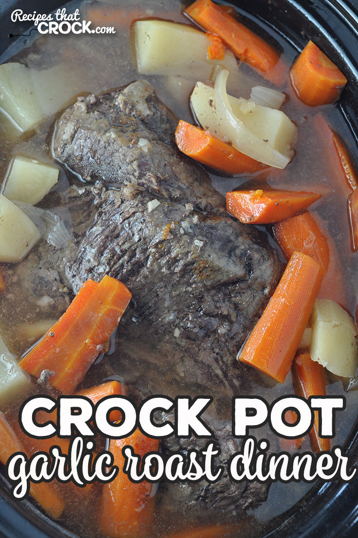 Are you looking for a delicious one-pot meal that everyone will love? This Garlic Crock Pot Roast Dinner is flavorful and filling! via @recipescrock