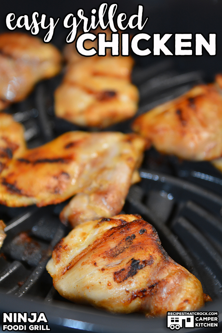 Our Easy Grilled Chicken is super simple and turns out tender and juicy every time! Great fail proof recipe for your outdoor grill or indoor Ninja Foodi Grill. via @recipescrock