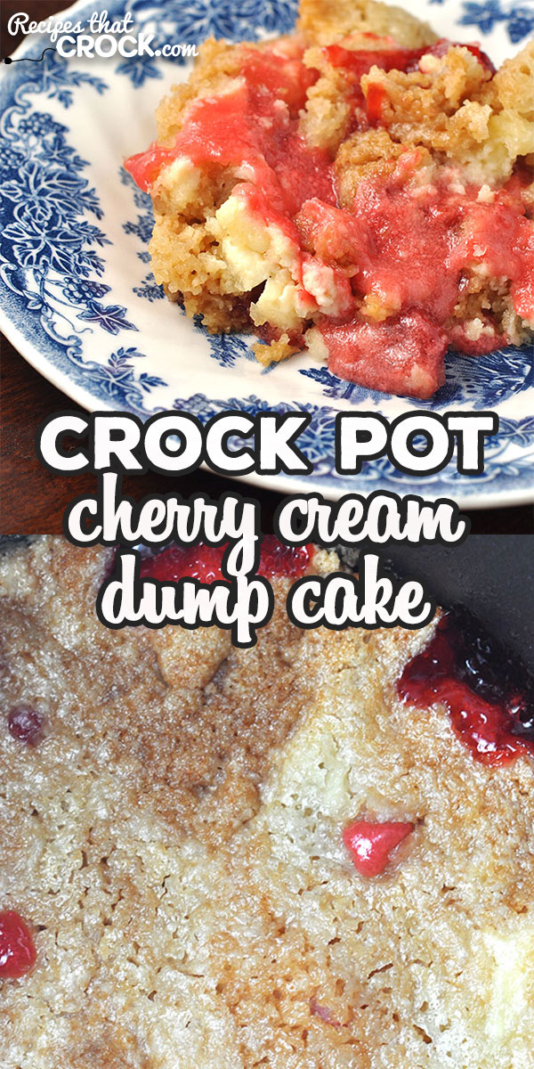 This Crock Pot Cherry Cream Dump Cake is a treat that tastes absolutely divine! Even better, it's a dump cake! So it is super easy to make and tastes great! via @recipescrock