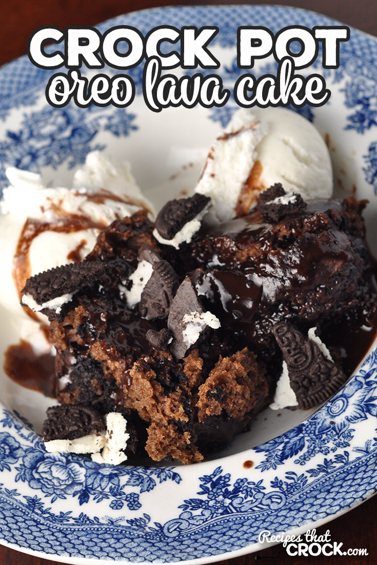 This Crock Pot Oreo Lava Cake is simple to make and so delicious! With it being a lava cake, your chocolate syrup is already with the cake! So yummy!