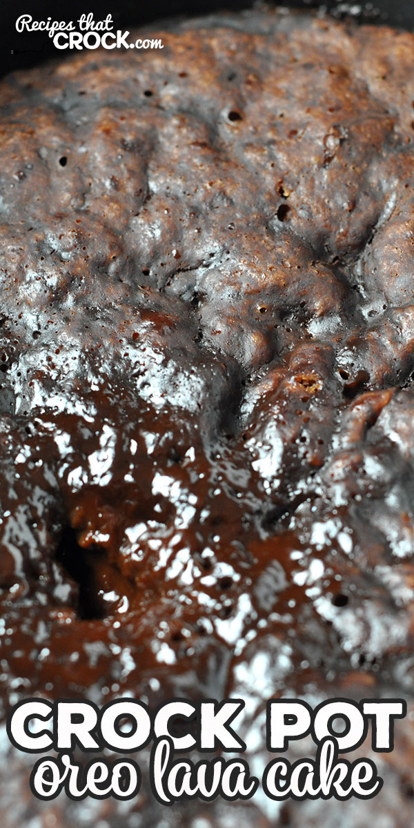 This Crock Pot Oreo Lava Cake is simple to make and so delicious! With it being a lava cake, your chocolate syrup is already with the cake! So yummy! via @recipescrock