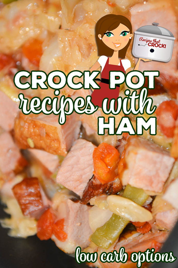Are you looking for Crock Pot Recipes to Make with Ham? These are our favorite breakfast and dinner recipes for leftover ham, including ham recipes with potatoes, beans, pasta or cabbage. Low carb options too!  Crock Pot Ham Breakfast Casseroles, Ham and Beans, Potato Casseroles and Ham and Cabbage plus much more! via @recipescrock