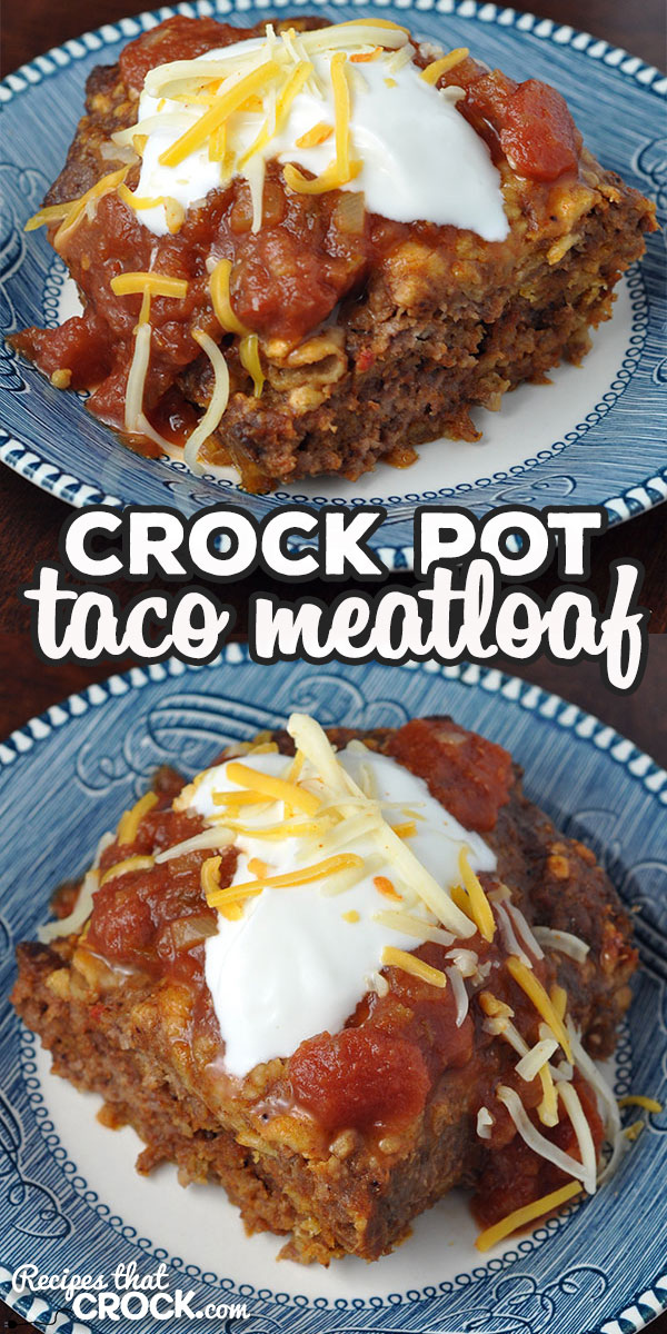 Folks, I have a treat for you! This Crock Pot Taco Meatloaf is easy, cooks up fast and has phenomenal flavor! You can even dress it up with your favorite taco toppings! via @recipescrock