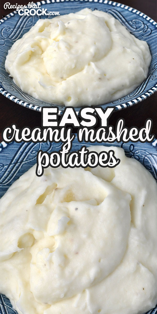 This Easy Creamy Mashed Potatoes recipe is a stove top variation of our beloved Crock Pot No Boil Mashed Potatoes. They are creamy and delicious! via @recipescrock