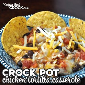 If you are looking for a delicious recipe that can be prepped beforehand and be cooked in an hour, this Crock Pot Chicken Tortilla Casserole is for you!