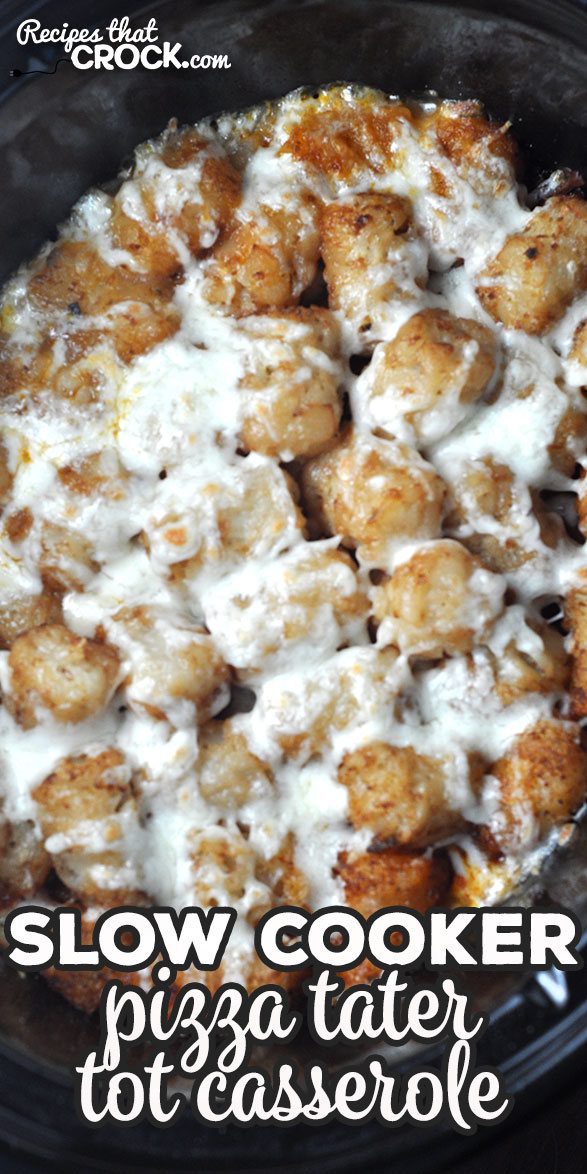 This super easy Slow Cooker Pizza Tater Tot Casserole recipe is kid-approved and loved by adults as well! You can customize it to your own pizza preferences too! It is sure to be a winner at your house! via @recipescrock