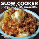 This super easy Slow Cooker Pizza Tater Tot Casserole recipe is kid-approved and loved by adults as well! You can customize it to your own pizza preferences too! It is sure to be a winner at your house!