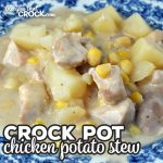 This Crock Pot Chicken Potato Stew is easy, delicious and a one-pot meal you are going to want to have for dinner over and over!