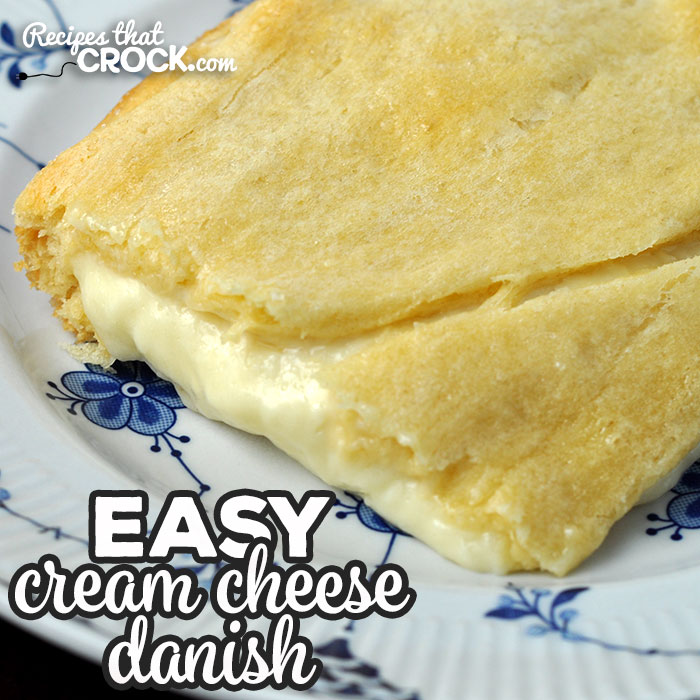 This Easy Cream Cheese Danish recipe for your oven has a delectable creamy center with an amazing flaky crust. Better yet, it is super easy to make!