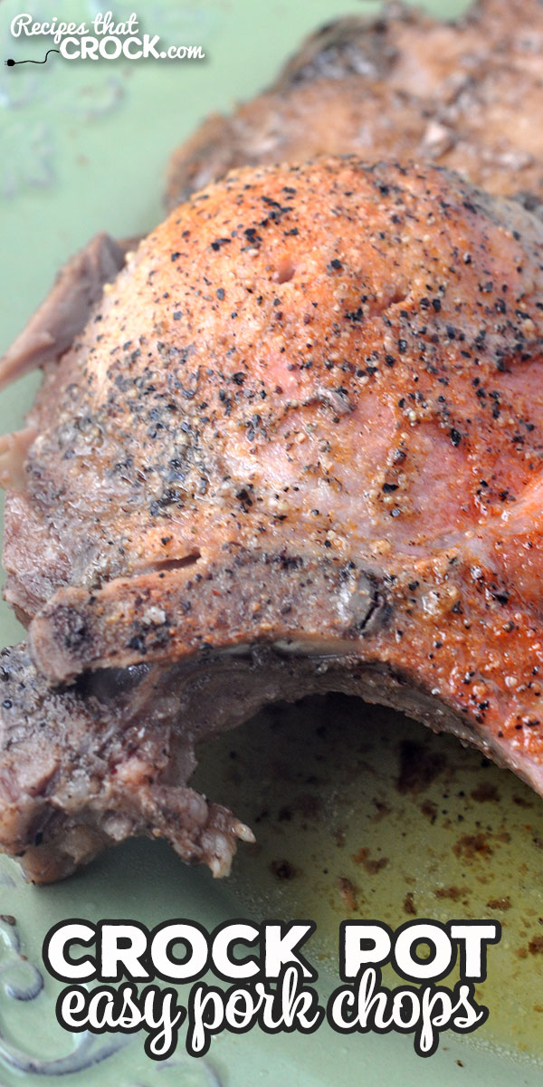 This Easy Slow Cooker Pork Chops recipe can be thrown together in a couple of minutes and gives you tender, juicy, flavorful pork chops! via @recipescrock