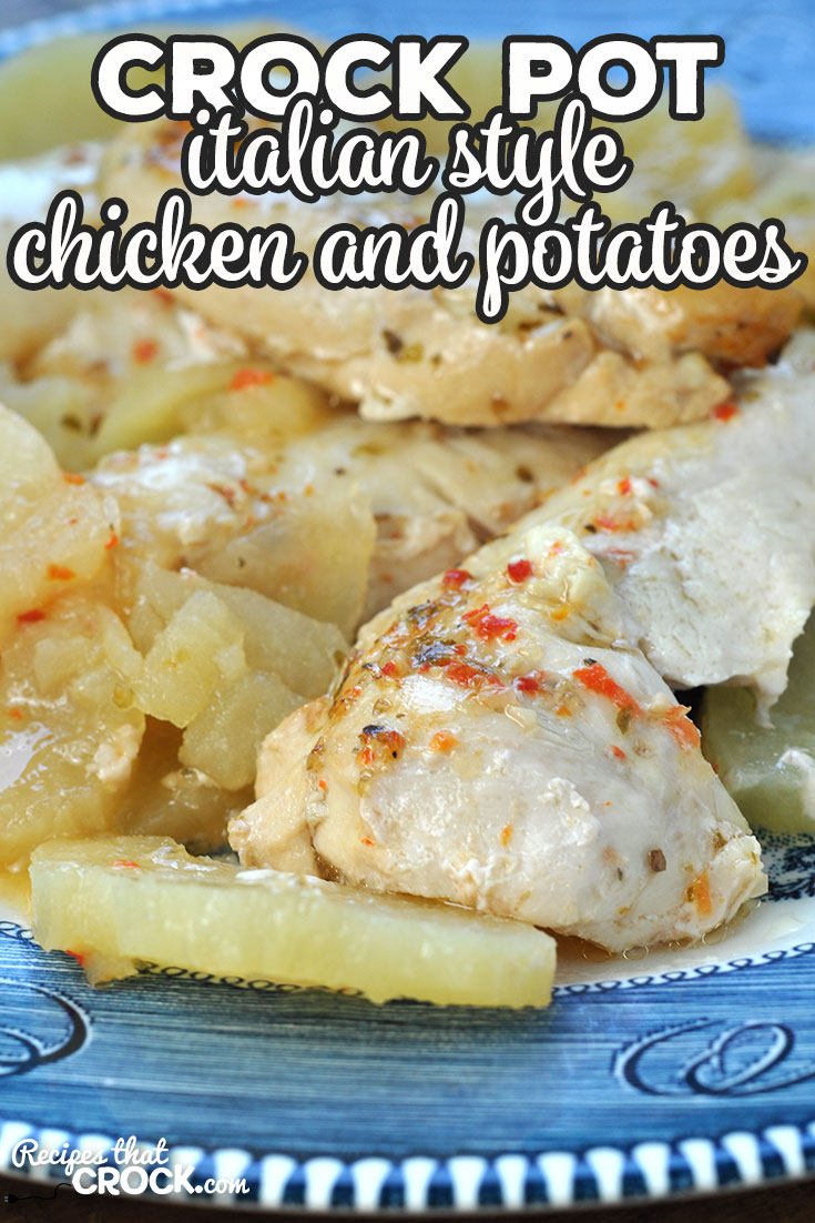 Simple. Quick. Delicious. Does that sound good to anyone else? This Crock Pot Italian Style Chicken and Potatoes is just that! So yummy and easy! via @recipescrock