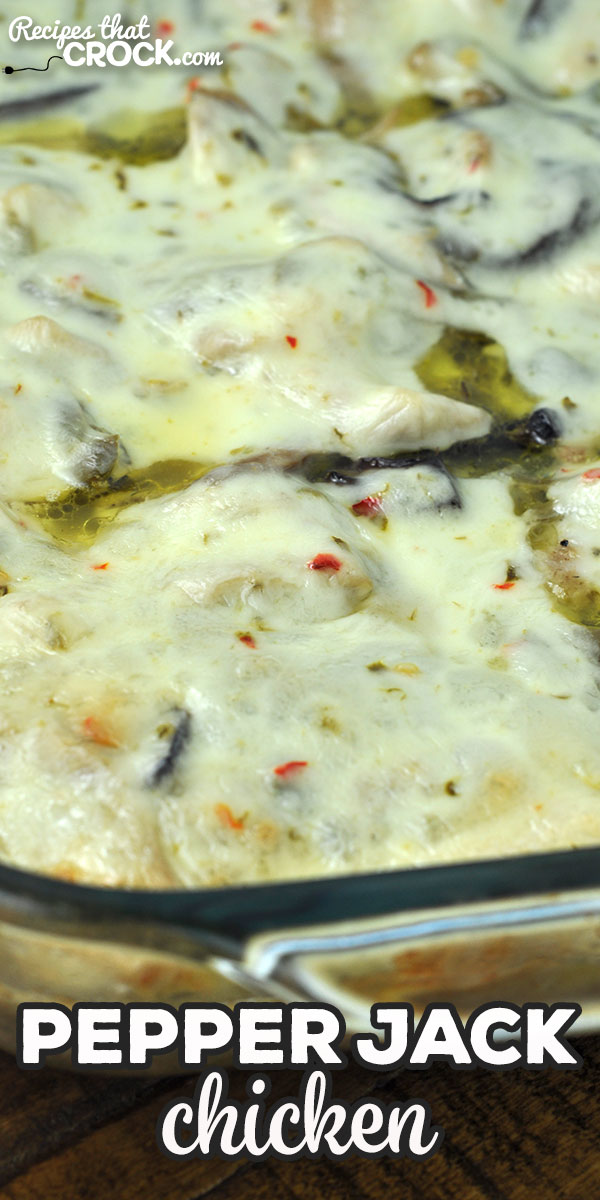 This Pepper Jack Chicken recipe for your oven is adapted from our reader favorite Crock Pot Pepper Jack Chicken. It is delicious and ready in just over an hour! via @recipescrock